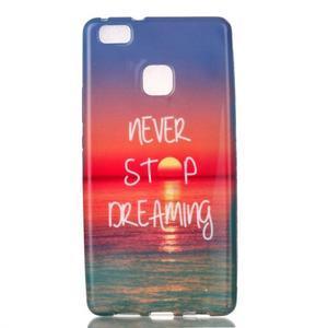 Emotive gelový obal na mobil Huawei P9 Lite - nepřestávej snít - 1