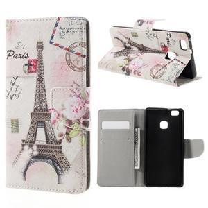 Richi PU kožené puzdro na Huawei P9 Lite - Eiffelova veža - 1