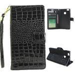 Croco peněženkové pouzdro na mobil Huawei P9 Lite - černé - 1/7
