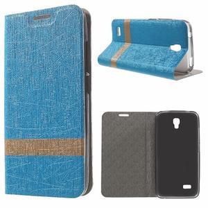 Lines knížkové pouzdro na Huawei Y5 a Y560 - modré - 1