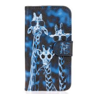 Štýlové peňaženkové puzdro na Huawei Y5 a Y560 - žirafia mafia - 1