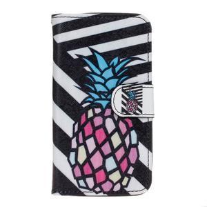 Štýlové peňaženkové puzdro na Huawei Y5 a Y560 - ananás - 1