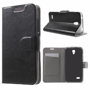Horse peněženkové pouzdro na mobil Huawei Y5 a Y560 - černé - 1