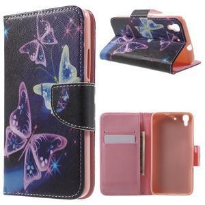 Emotive pouzdro na mobil Huawei Y6 - kouzelní motýlci - 1