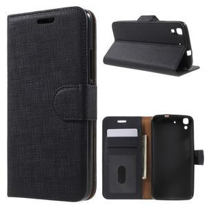 Clothy PU kožené pouzdro na Huawei Y6 - černé - 1