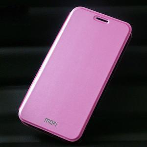 Vintage PU kožené puzdro na mobil Huawei Y6 - ružové - 1