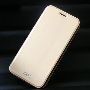 Vintage PU kožené pouzdro na mobil Huawei Y6 - zlaté - 1