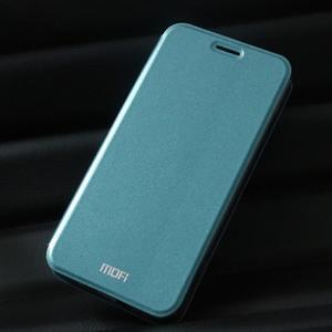 Vintage PU kožené pouzdro na mobil Huawei Y6 - modré - 1