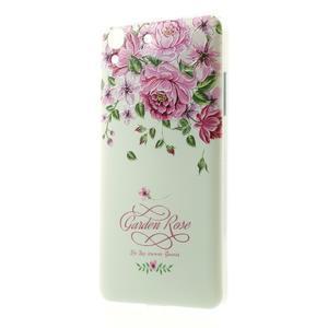 Softy gelový obal na mobil Huawei Y6 - květiny - 1