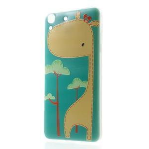 Softy gelový obal na mobil Huawei Y6 - žirafa - 1