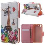 Emotive pouzdro na mobil Huawei Y6 - květiny a Eiffelka - 1/7