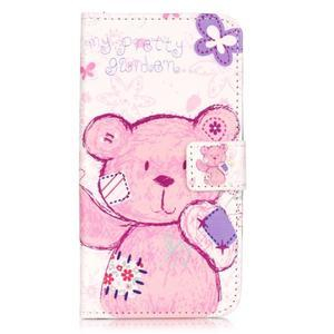 Knížkové pouzdro na mobil Huawei Y6 Pro - medvídek - 1