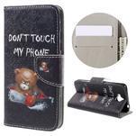 Emotive peněženkové pouzdro na mobil Huawei Y6 Pro - nedotýkat se - 1/7