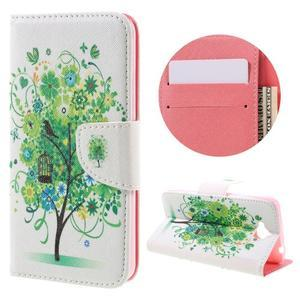 Emotive peňaženkové puzdro na mobil Huawei Y6 Pro - zelený strom - 1