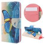Emotive peněženkové pouzdro na mobil Huawei Y6 Pro - modrý motýl - 1/7