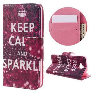 Emotive peňaženkové puzdro na mobil Huawei Y6 Pro - Keep Calm - 1