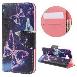 Emotive peněženkové pouzdro na mobil Huawei Y6 Pro - kouzelní motýlci - 1