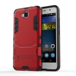 Outdoor odolný obal na mobil Huawei Y6 Pro - červený - 1