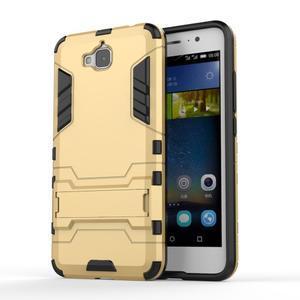 Outdoor odolný obal na mobil Huawei Y6 Pro - zlatý - 1