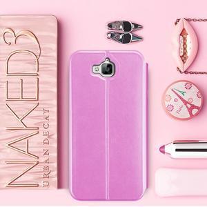 Vintage PU kožené pouzdro na mobil Huawei Y6 Pro - růžové - 1