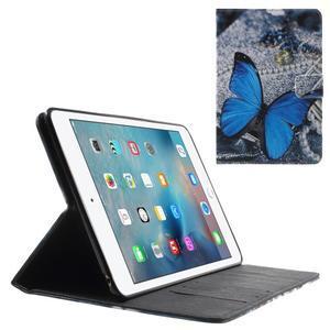 Stylové pouzdro na iPad mini 4 - modrý motýl - 1