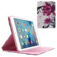 Stylové pouzdro na iPad mini 4 - fialový květ - 1/7