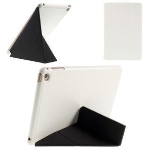 Origami polhovatelné pouzdro na iPad mini 4 - bílé - 1