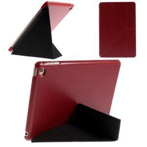 Origami polohovateľné puzdro pre iPad mini 4 - červené - 1