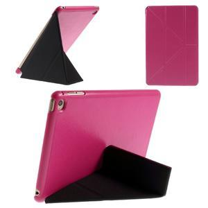 Origami polohovateľné puzdro pre iPad mini 4 - rose - 1