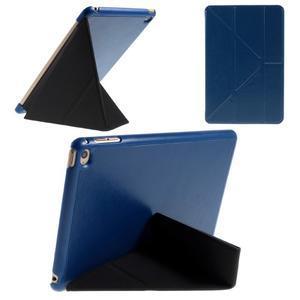 Origami polhovatelné pouzdro na iPad mini 4 - tmavěmodré - 1