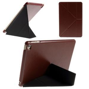 Origami polhovatelné pouzdro na iPad mini 4 - hnědé - 1
