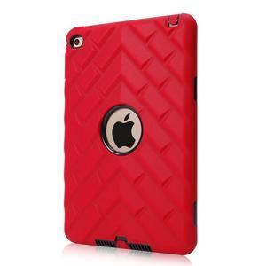 Vysoce odolný silikónový obal pre tablet iPad mini 4 - čierne/červený - 1