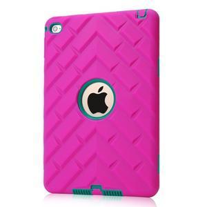 Vysoce odolný silikonový obal na tablet iPad mini 4 - rose/zelený - 1