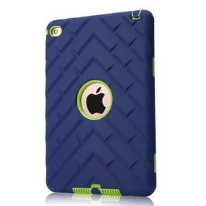 Vysoce odolný silikonový obal na tablet iPad mini 4 - tmavěmodrý/zelený - 1