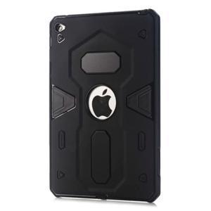 Outdoor dvoudílný gélový/plastový obal pre iPad mini 4 - čierne - 1