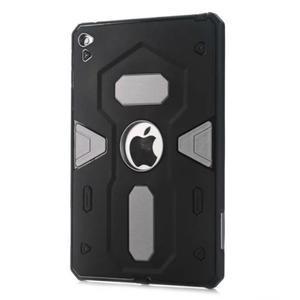 Outdoor dvoudílný gélový/plastový obal pre iPad mini 4 - strieborný - 1