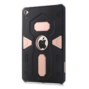 Outdoor dvoudílný gélový/plastový obal pre iPad mini 4 - ružovozlatý - 1