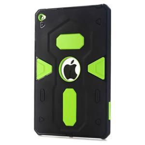 Outdoor dvoudílný gélový/plastový obal pre iPad mini 4 - zelený - 1
