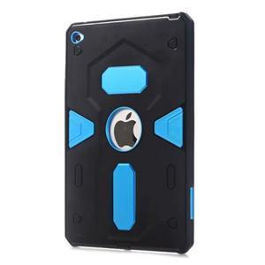 Outdoor dvoudílný gélový/plastový obal pre iPad mini 4 - modrý - 1