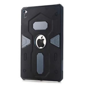 Outdoor dvoudílný gélový/plastový obal pre iPad mini 4 - modrosivý - 1