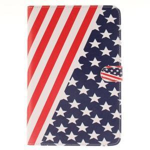Standy puzdro pre tablet iPad mini 4 - US vlajka - 1