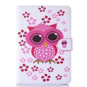 Knížkové puzdro pre tablet iPad mini 4 - sova - 1