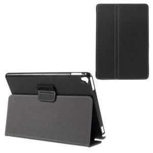 Clothy PU kožené pouzdro na iPad Pro 9.7 - černé - 1