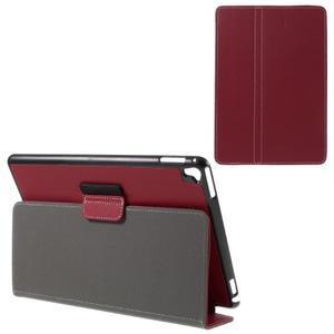 Clothy PU kožené puzdro pre iPad Pro 9.7 - červené - 1