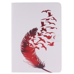 Knížkové pouzdro na tablet iPad Pro 9.7 - ptačí peříčko - 1