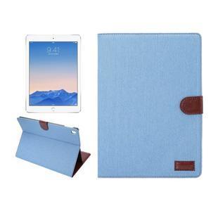 Jeans štýlové puzdro pre iPad Pro 9.7 - svetlomodré - 1