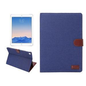 Jeans štýlové puzdro pre iPad Pro 9.7 - tmavomodré - 1