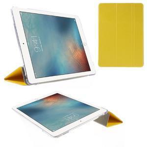 Trifold polohovateľné puzdro pre tablet iPad Pro 9.7 - žlté - 1