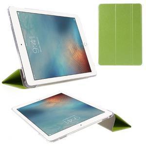 Trifold polohovatelné pouzdro na tablet iPad Pro 9.7 - zelené - 1