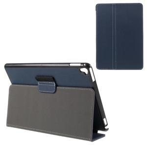 Clothy PU kožené pouzdro na iPad Pro 9.7 - tmavěmodré - 1